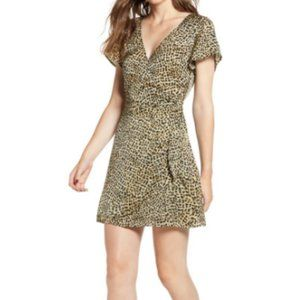 "Cupcakes and Cashmere ""Lenna"" Leopard Wrap Dress"